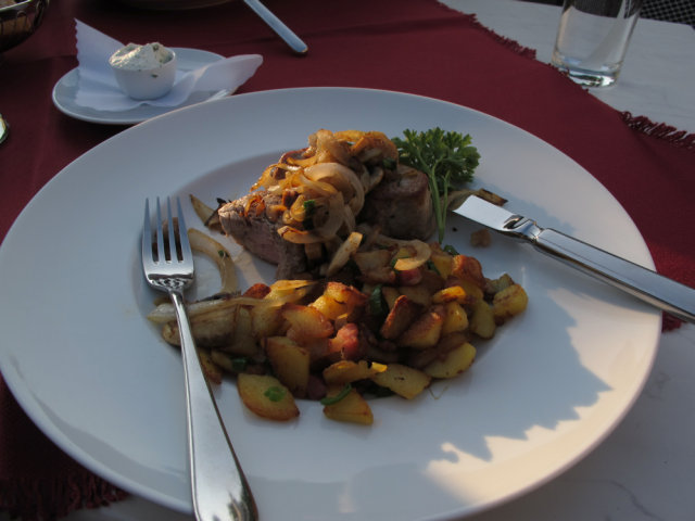 German pork meal with potatoes.