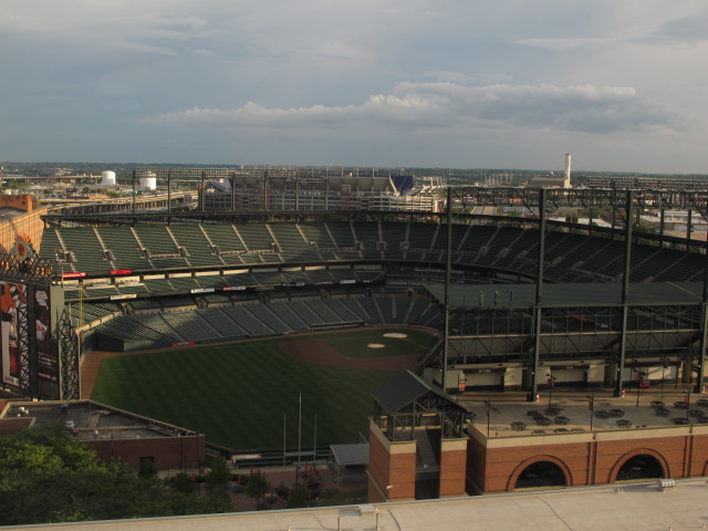 Orioles Stadium, viewed from the Hilton, 15th floor.