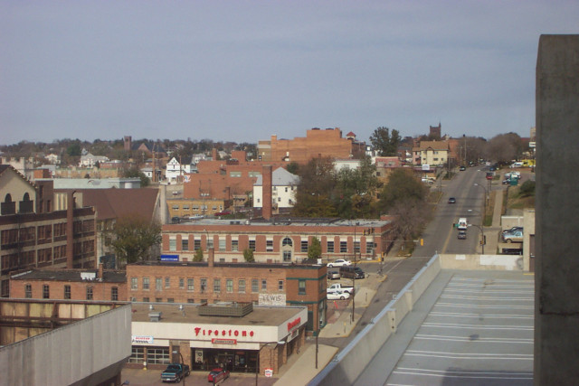 Sioux City's Downtown Area, from a hotel window 8 stories up.