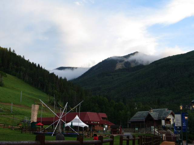 Beaver Creek valley summertime, with clouds.