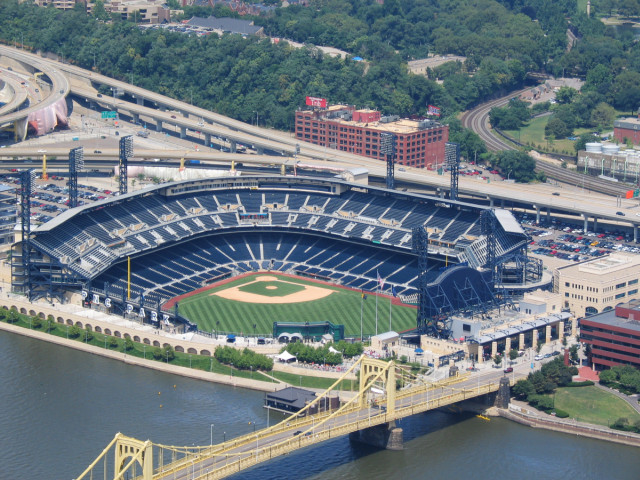 Pirate Stadium, as seen from the US Steel Tower