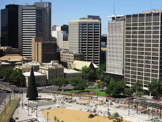 Adelaide, Australia, during Christmas time.