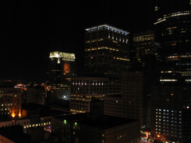 Minneapolis, at night.