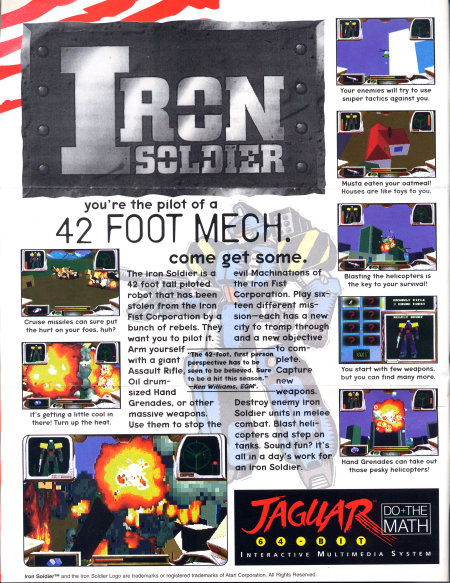 Iron Soldier full page ad.
