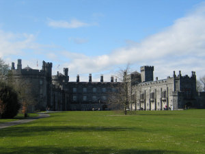 Kilkenny castle, interior grounds.