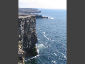 Cliffs, ocean, at Dun Aengus.